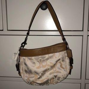 Coach Zoe Optic Signature Top Handle Pouch Bag